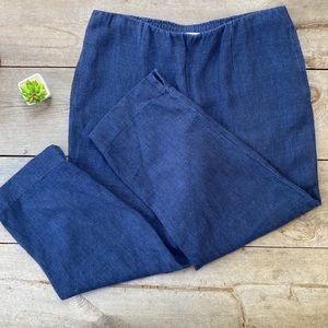 J Jill Linen Blue Pants